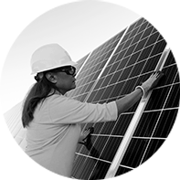NextEra Energy employee working on Solar Panel
