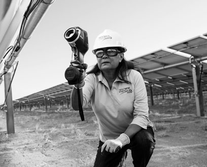 NextEra Energy Solar Farm worker
